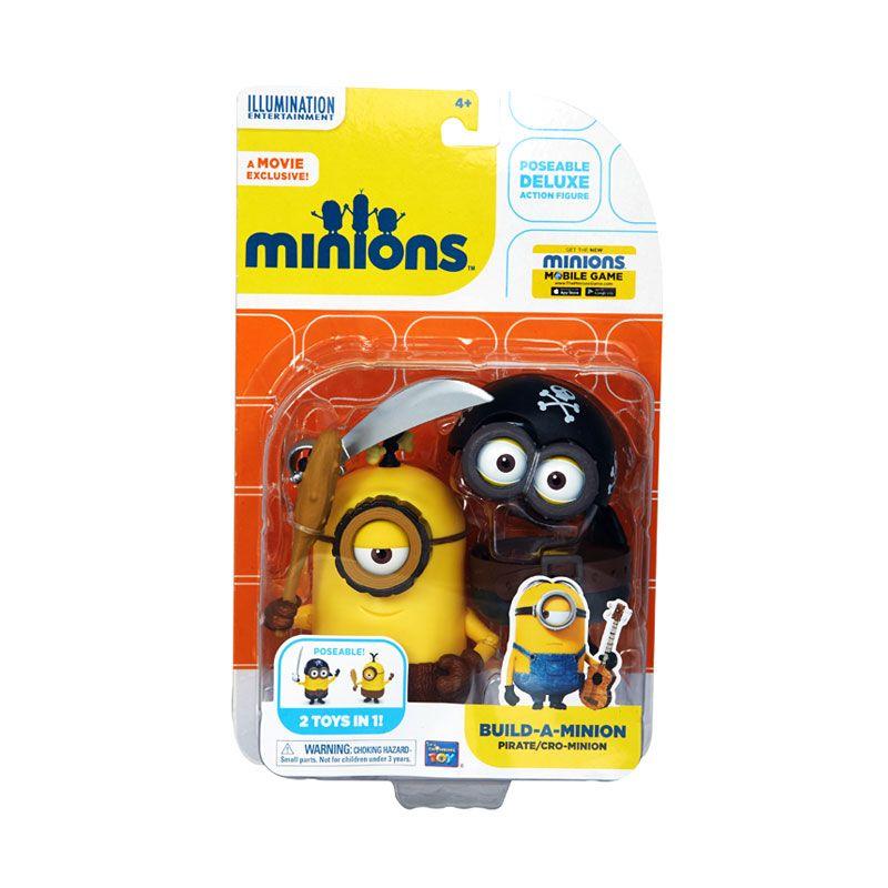 Minions Build-A-Pirate CRO Minions Yellow Black Mainan Anak