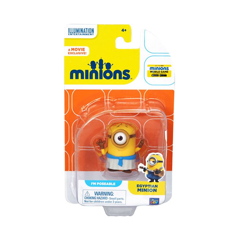 Minions Egyptian Action Figure Articulatd Yellow Mainan Anak