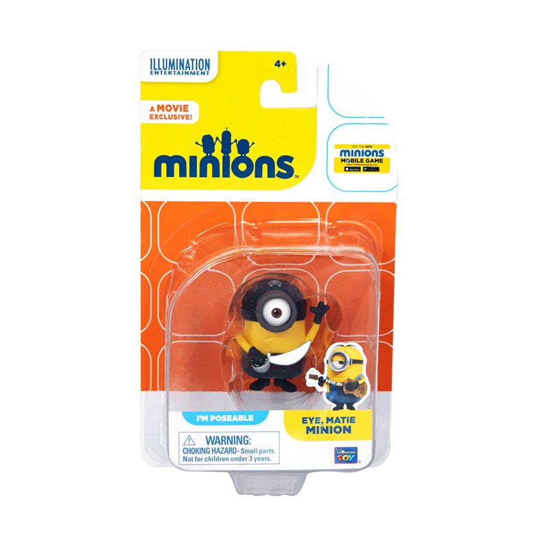 Minions Eye Matie Action Figure Articulated Yellow Mainan Anak