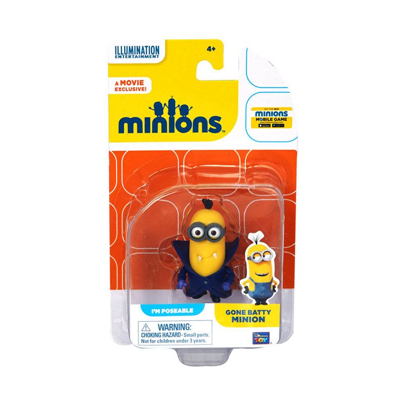 Minions Gone Batty Action Figure Articulated Yellow Mainan Anak