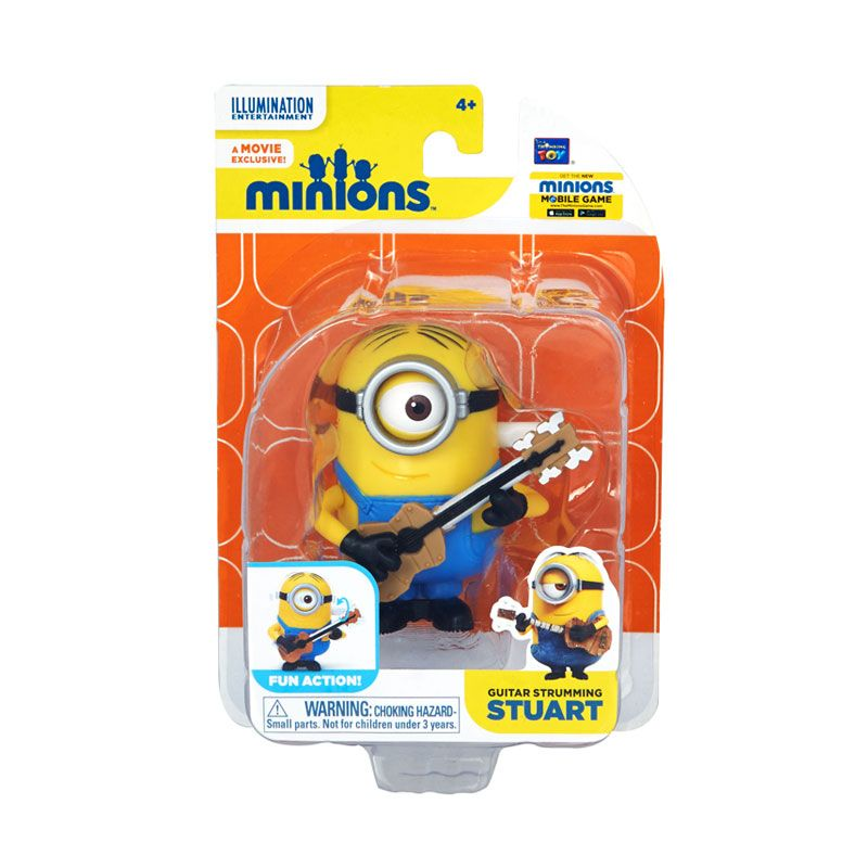Minions Guitar Strumming Stuart Yellow Mainan Anak