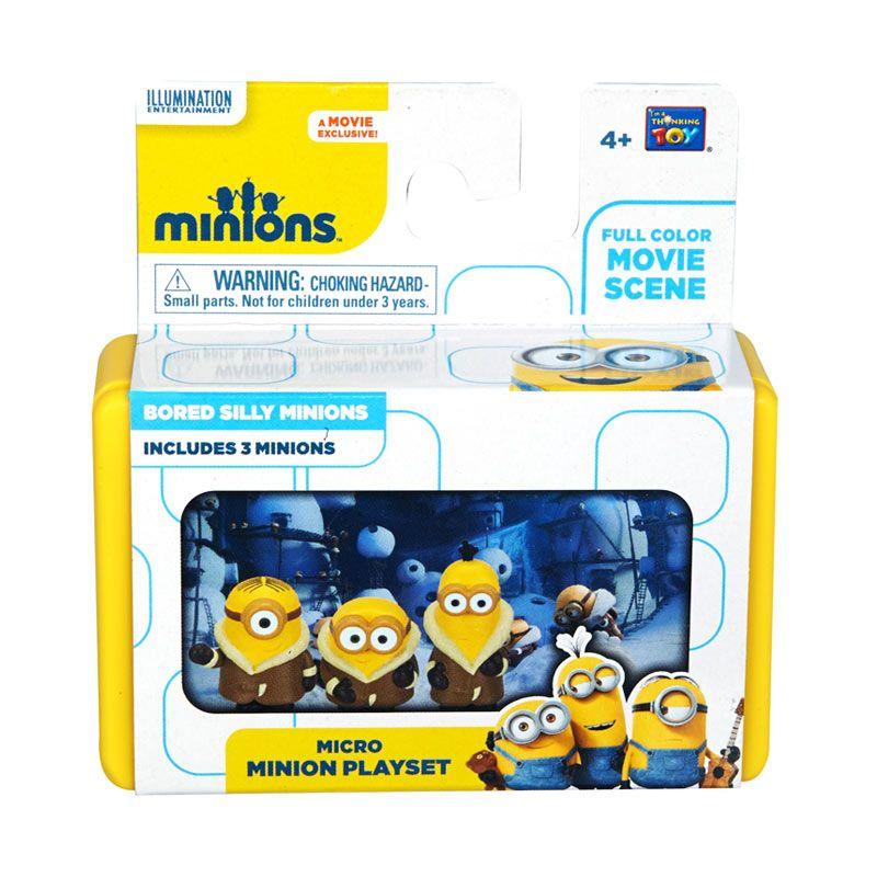 Minions Mini Playset Bored Silly Minionss Yellow Mainan Anak