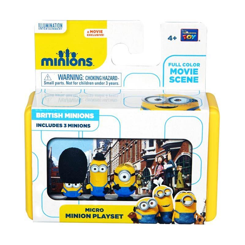 Minions Mini Playset British Minionss Yellow Mainan Anak