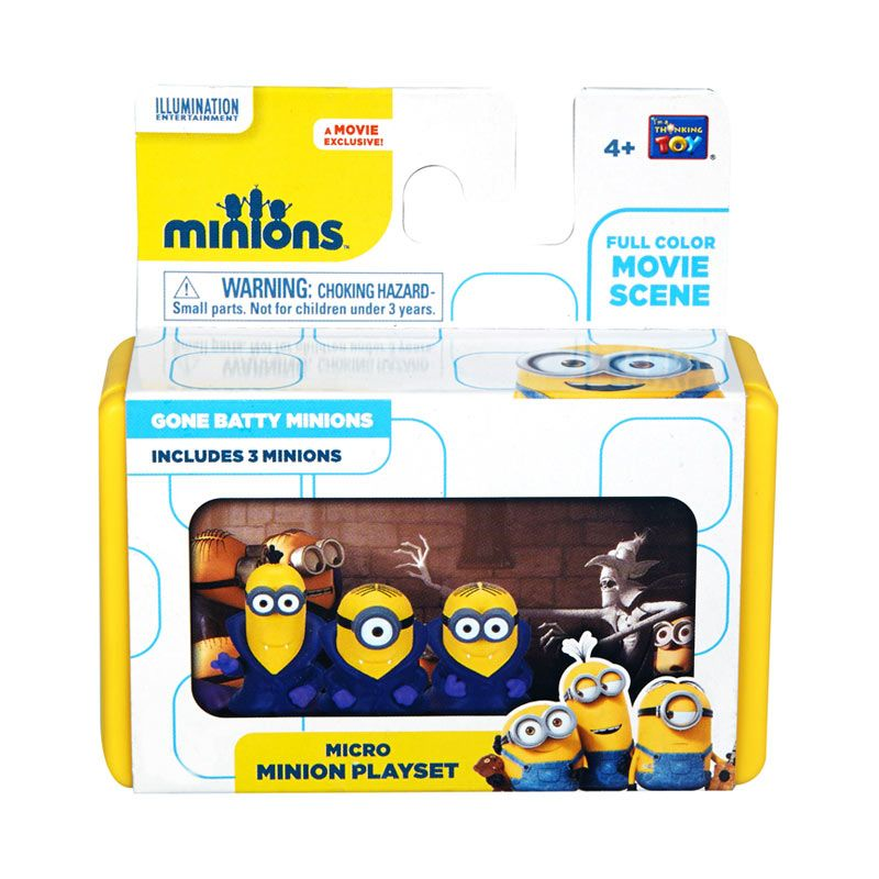 Minions Mini Playset Gone Batty Minionss Yellow Mainan Anak