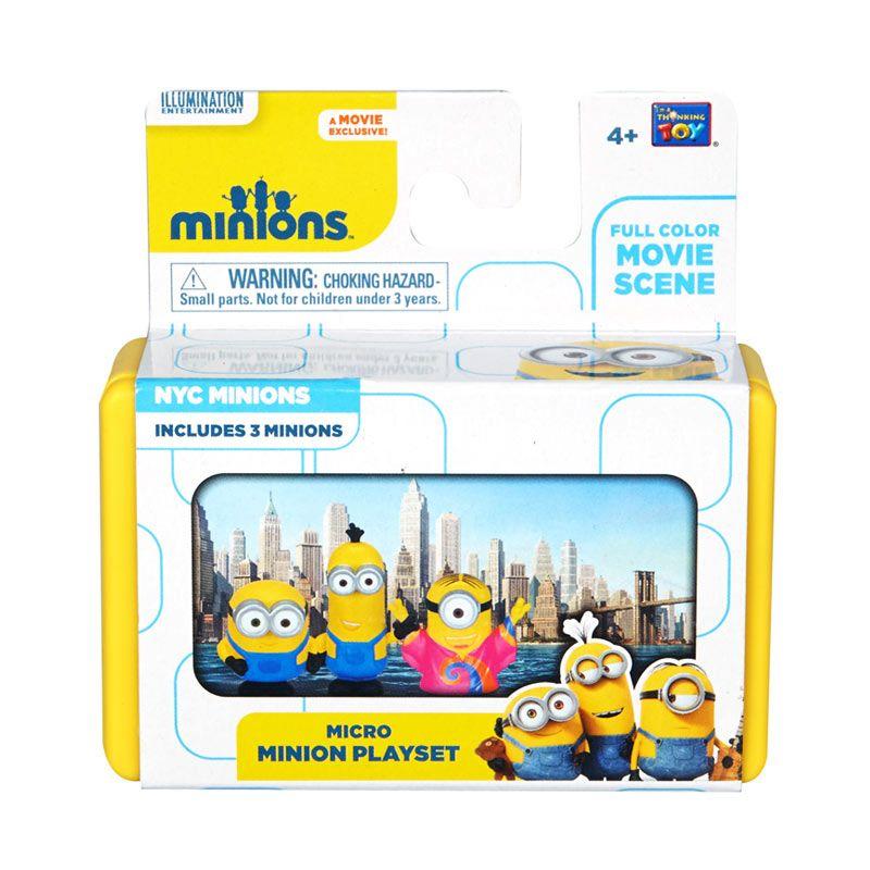 Minions Mini Playset NYC Minions Yellow Mainan Anak
