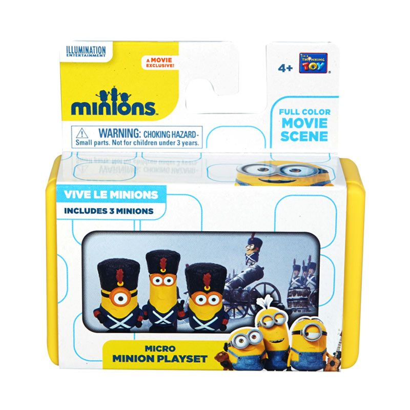 Minions Mini Playset Vive Le Minions Yellow Mainan Anak