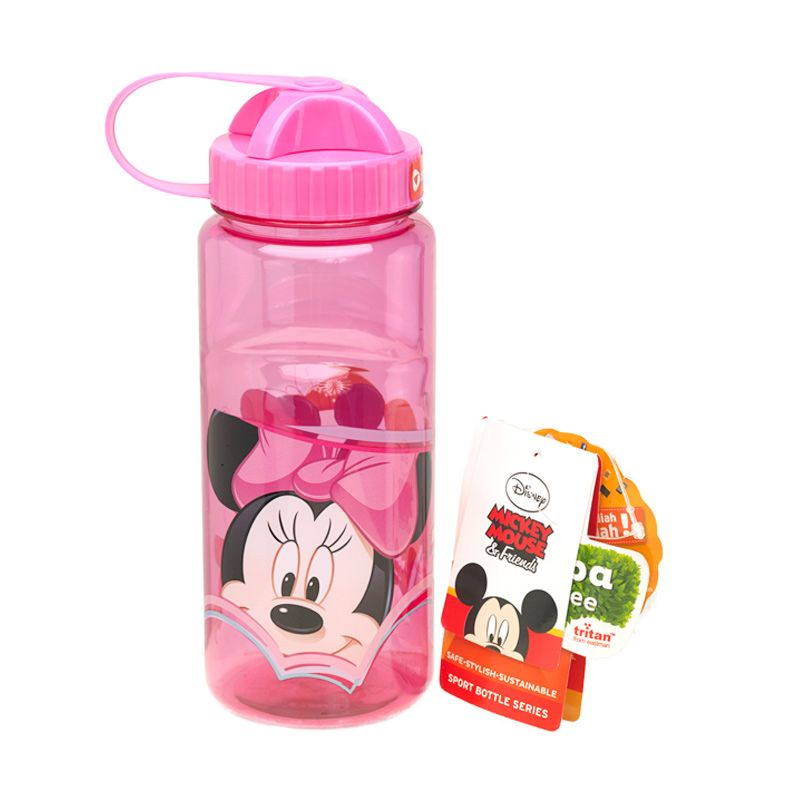 Disney Minnie Mouse Sport Pink Botol Minum [670 mL]