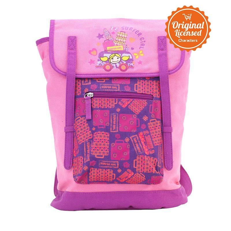 Surfer Girl Bagpack Flower Pink Tas Ransel Anak