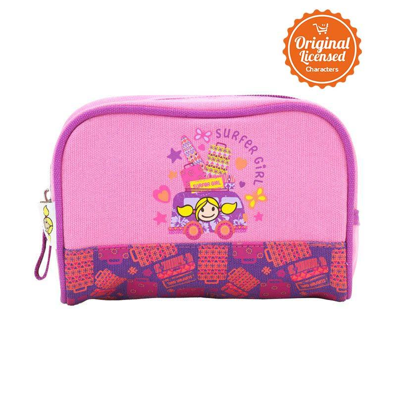 Surfer Girl Pink Stationary Case Tempat Pensil