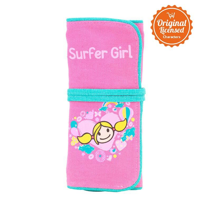 Surfer Girl Folded Pink Tempat Pensil