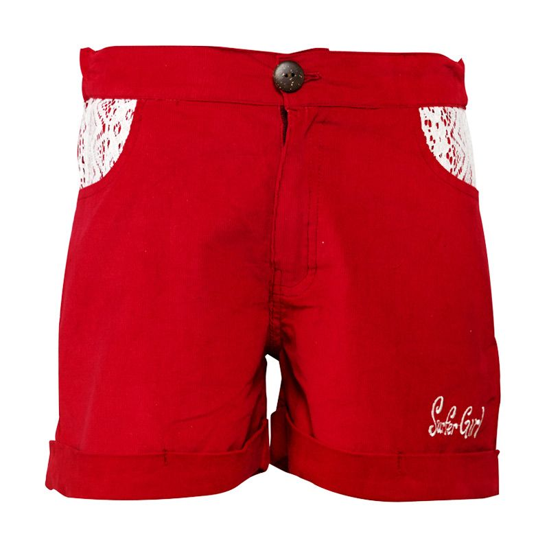 Surfer Girl Junior Tropical Bottom Woven Red Celana Anak Perempuan