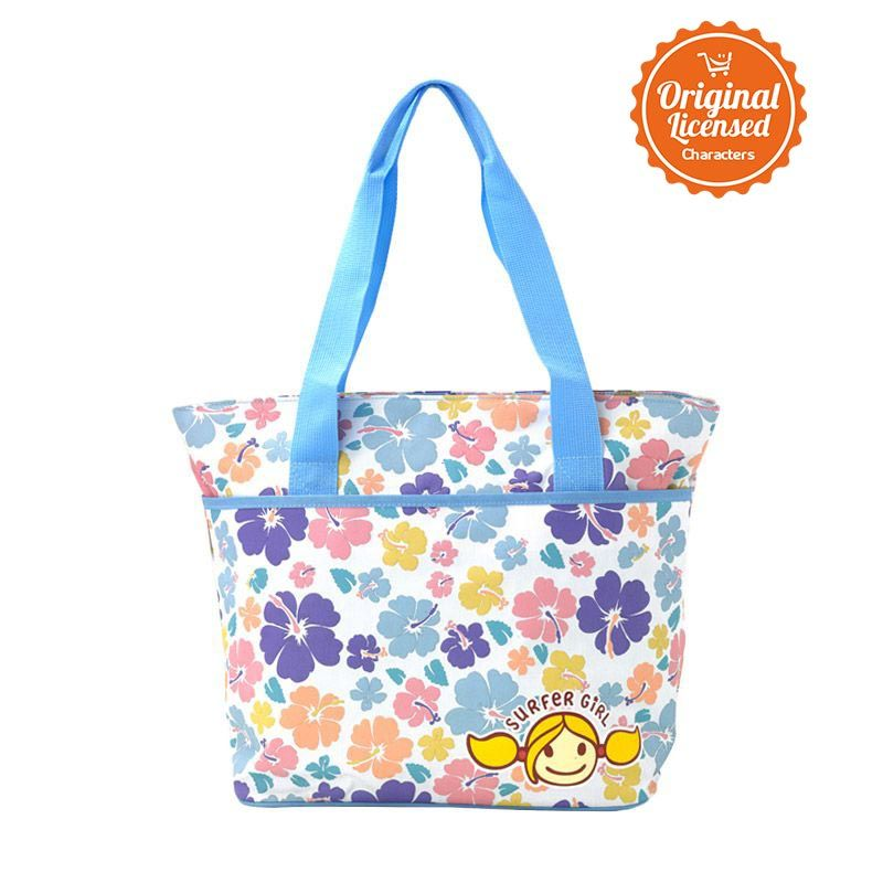 Surfer Girl Tote Bag Blue Tas Tangan Anak