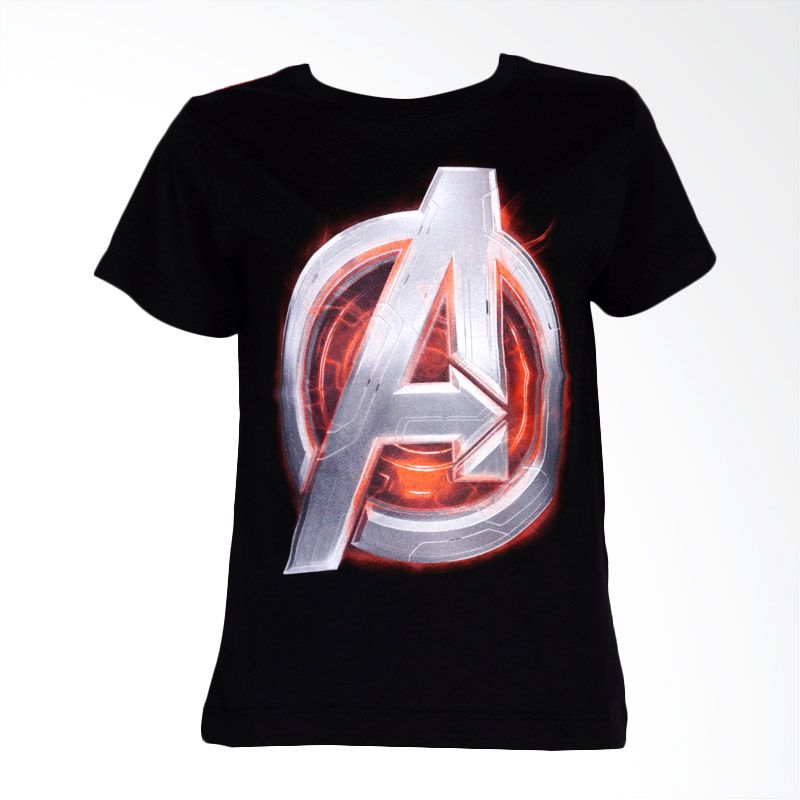 The Avengers Age of Ultron Avengers Symbol Black Atasan Anak Laki-Laki