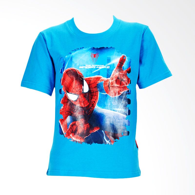 The Amazing Spider-Man 2 Printed Web Turquise Atasan Anak Laki-Laki