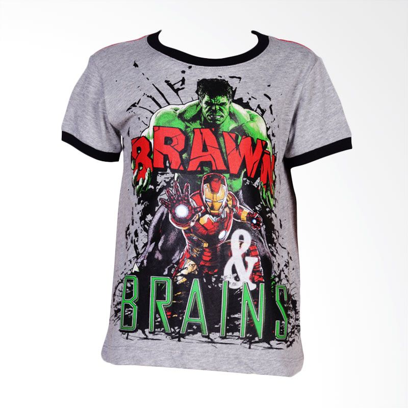 The Avengers Age of Ultron Brawn & Brain Grey Atasan Anak Laki-Laki