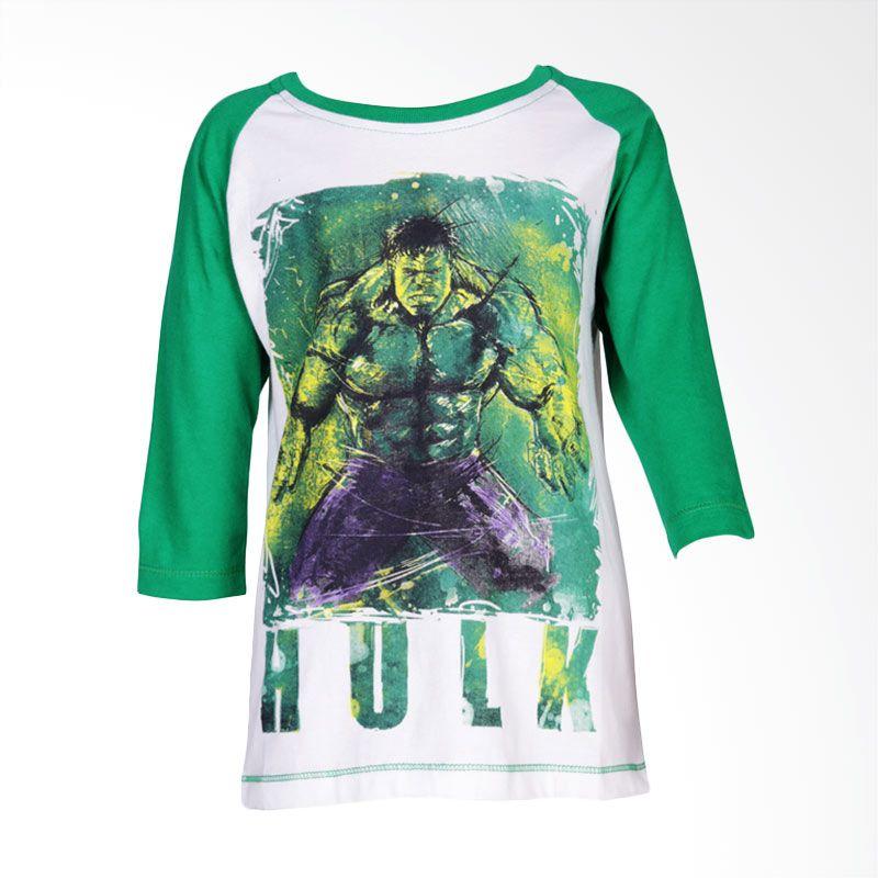 The Avengers Age of Ultron Hulk Green White Atasan Anak Laki-Laki