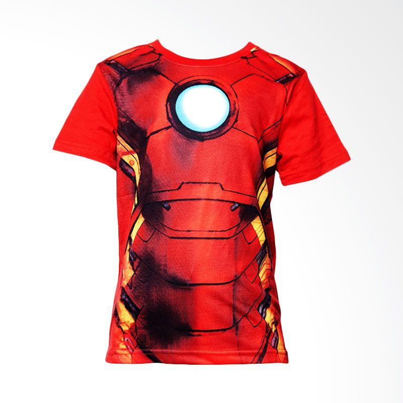 The Avengers Age Of Ultron Iron Man Sixpack Body Red Atasan Anak Laki-Laki