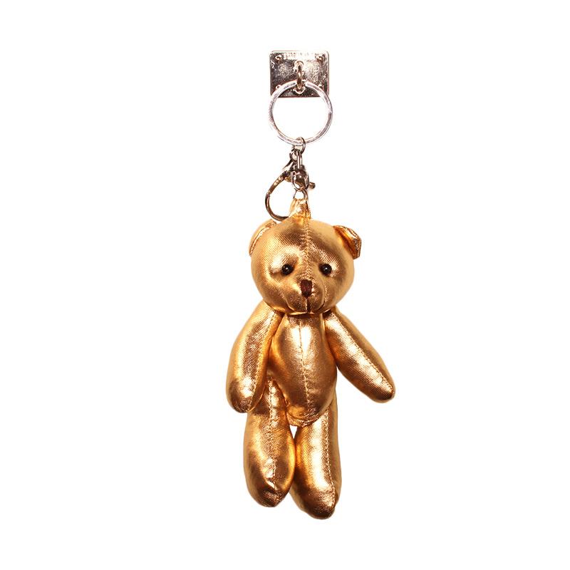 Charm Bear Doll Gantungan Handphone - Gold