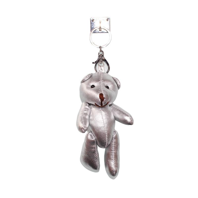 Charm Bear Doll Gantungan Handphone - Silver