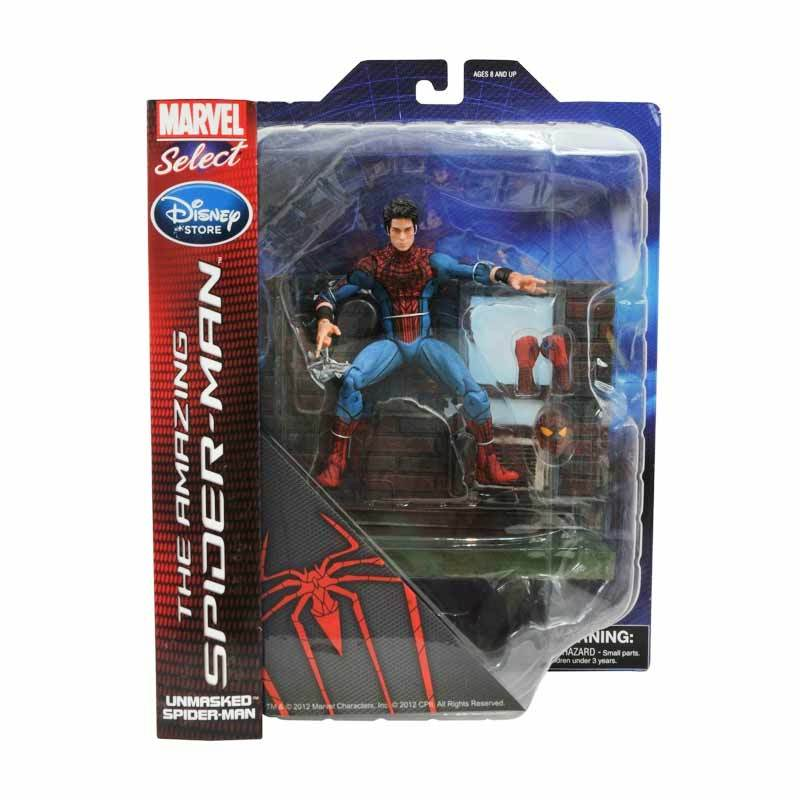 Marvel Select The Amazing Spider-Man Unmasked Spiderman Disney Store