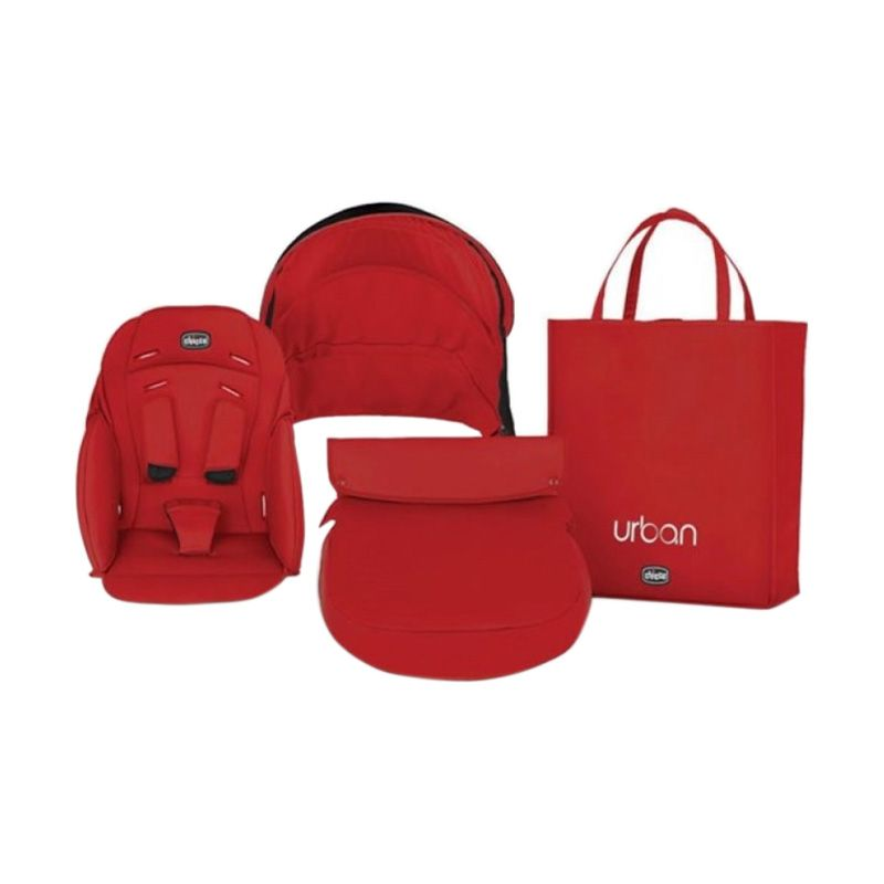 Chicco Pack Urban 79358.930 Red Wave Kereta Dorong Bayi