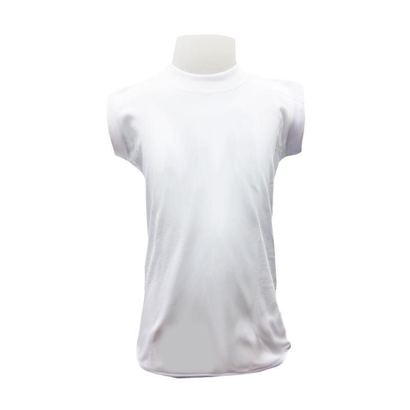 Chicford Children Round Neck Sleeveless White T-Shirt