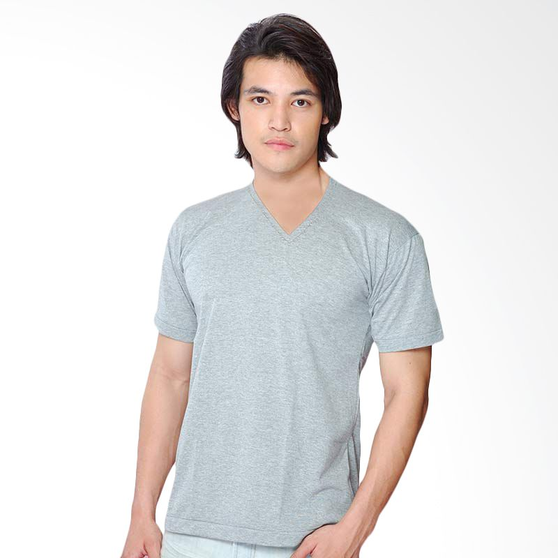 Chicford V Neck T-Shirt Grey