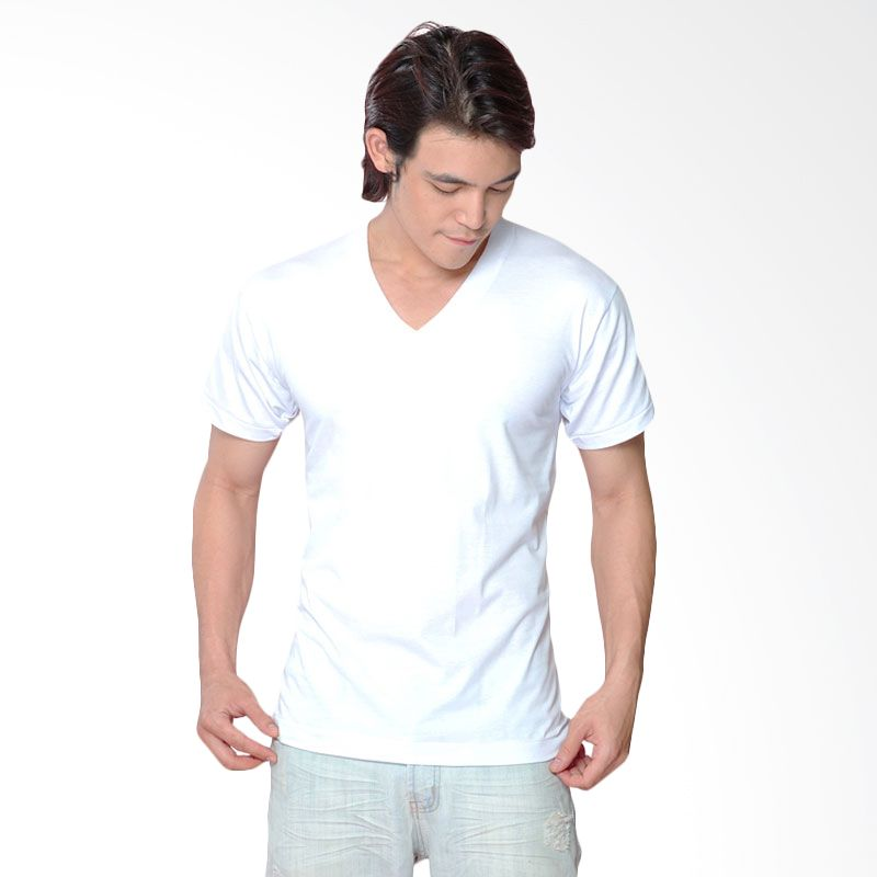 Chicford V Neck T-Shirt White