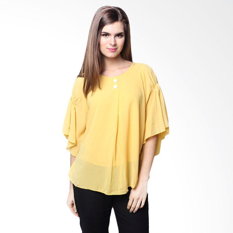 Chick Shop Blouse Kalong Polos Kuning Atasan Wanita