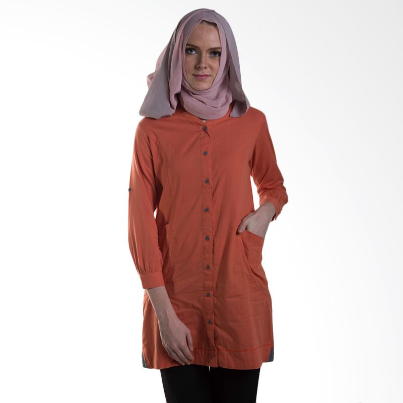 Chick Shop Front Pocket Co25 Orange Atasan Wanita