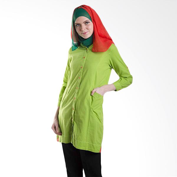 Chick Shop Front Pocket CO25 Green Atasan Wanita