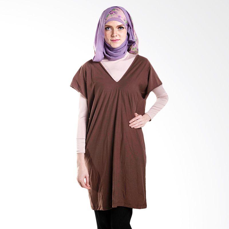 Chick Shop Loose Blouse Brown Atasan Muslim Wanita