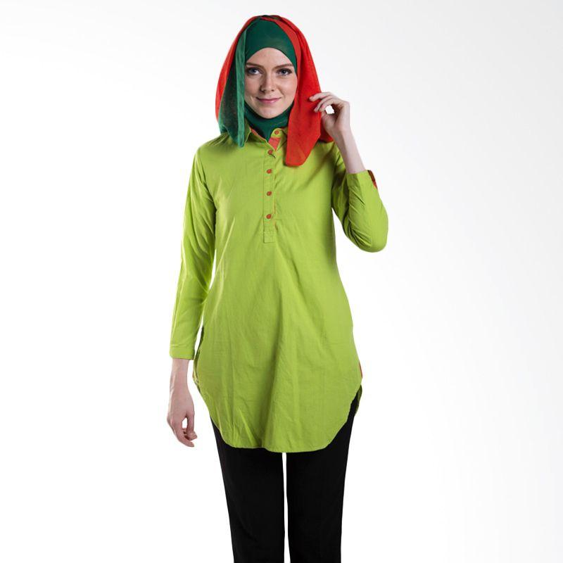 Cihck Shop Side Crop 2 Co24 Green Atasan Wanita