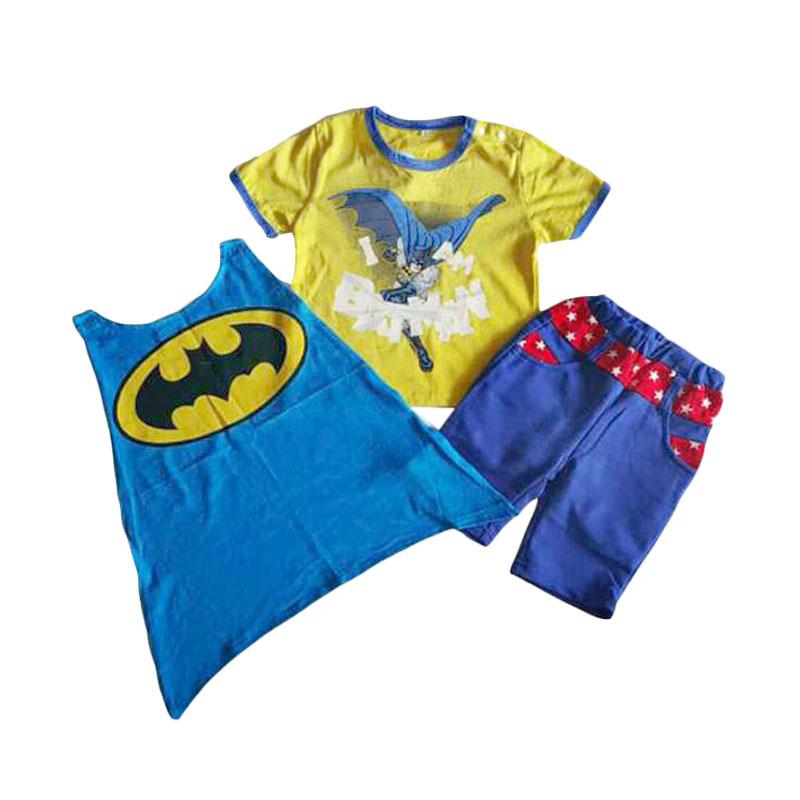 Chloe Babyshop 3 in1 Batman F265 Set Setelan Pakaian Anak