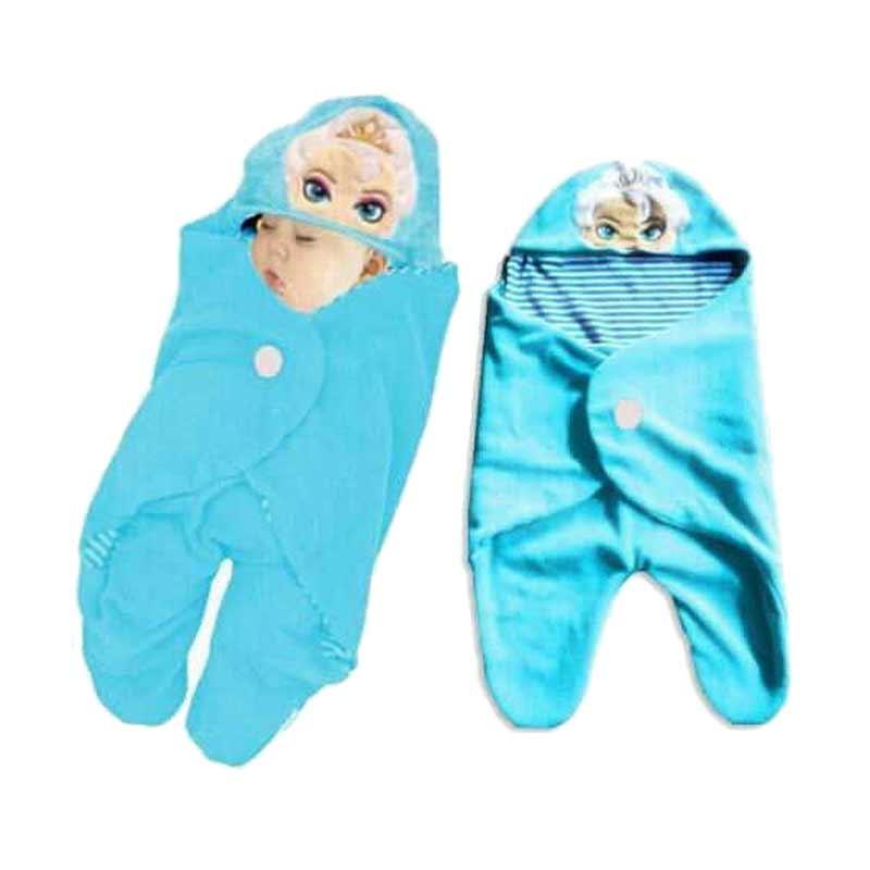 Chloe Babyshop Baby Wrab Elsa Selimut Bayi - Blue