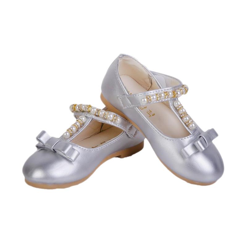 Chloe Babyshop Balerina Shoes Blink S155 Sepatu Anak - Silver