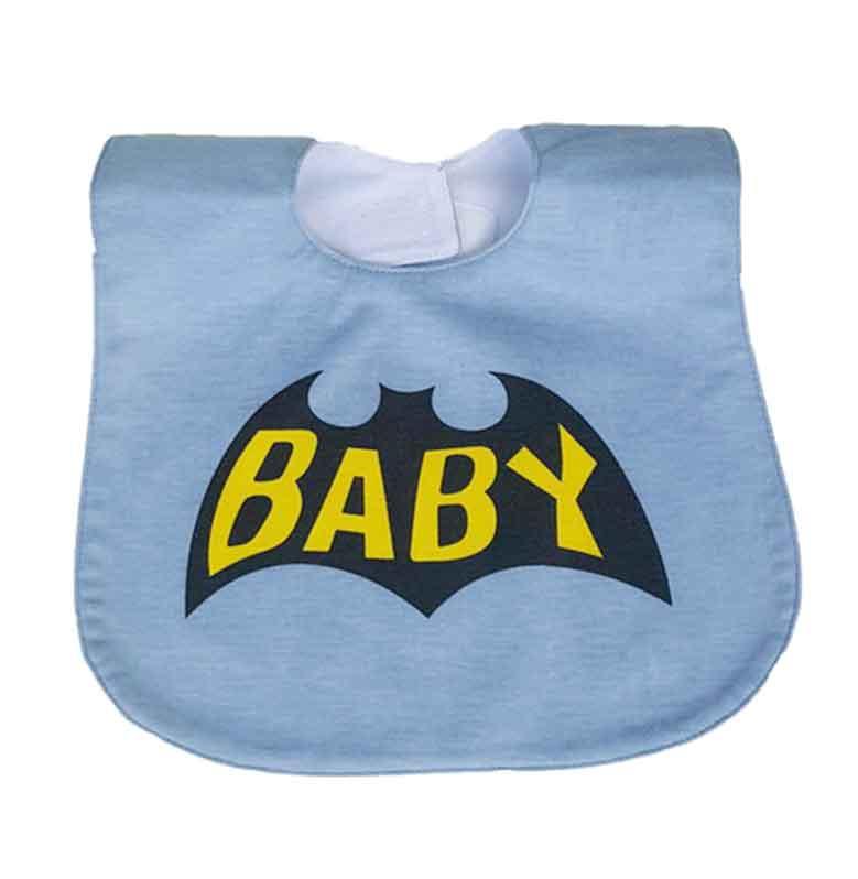 Chloe Babyshop BB11G Sleber Batman Bib