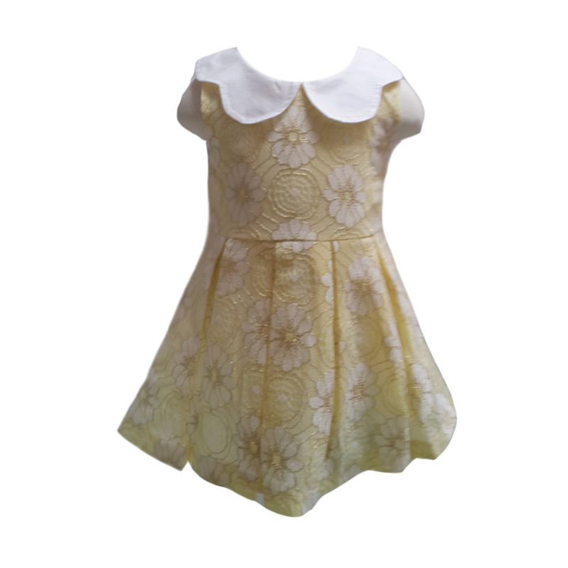Chloe Babyshop Brukat Flower C6 Yellow Dress Anak