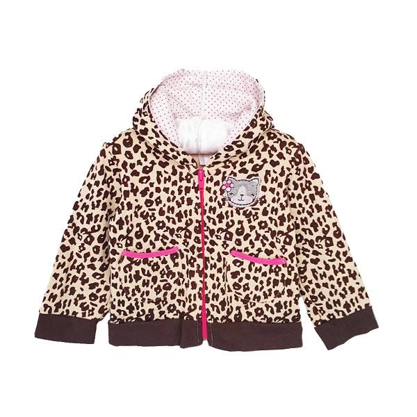 Chloe Babyshop Cat Bag Leopard F825 Jaket Anak - Coklat