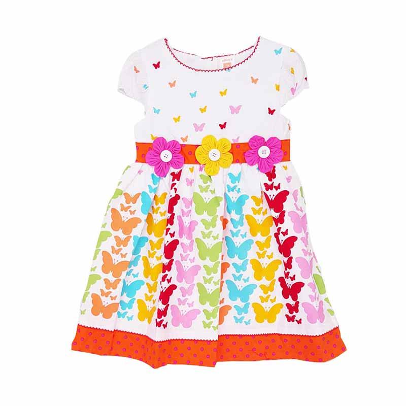 Chloebaby Shop F846 3 Flow Butterfly Dress Anak
