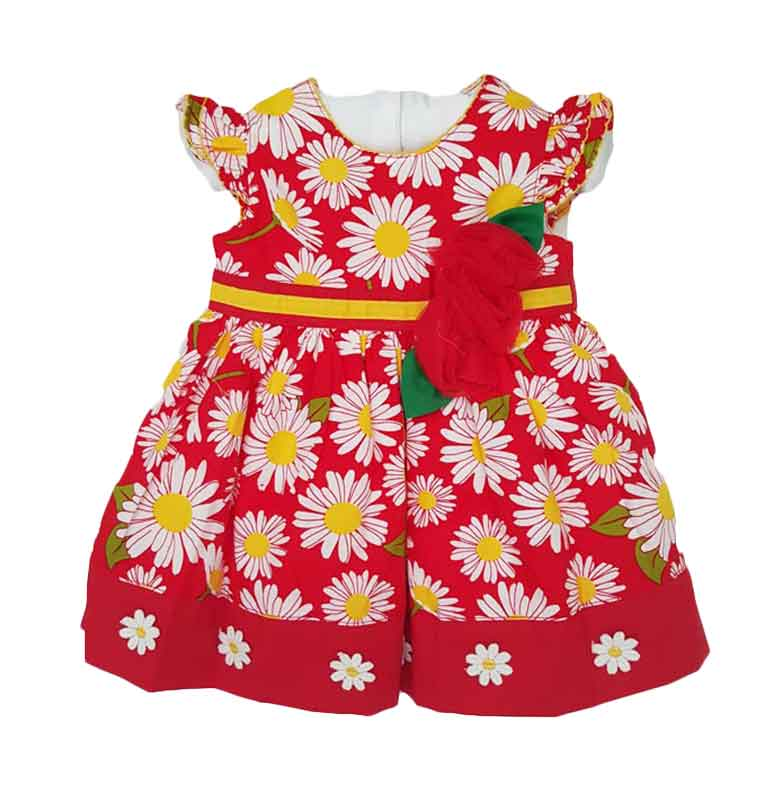 Chloe Babyshop Flower Leaves F845 Dress Anak- Merah