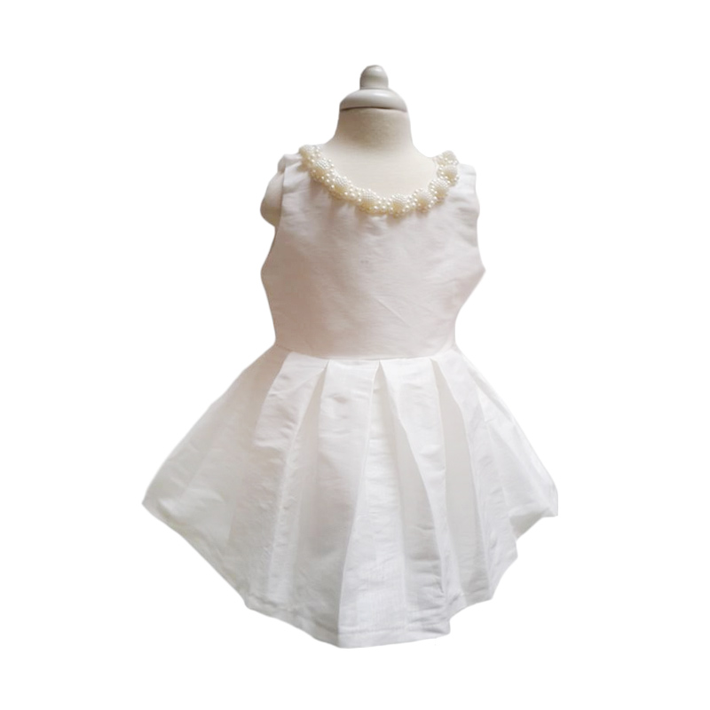 Chloebaby Shop C68 Mutiara Dress Anak - White