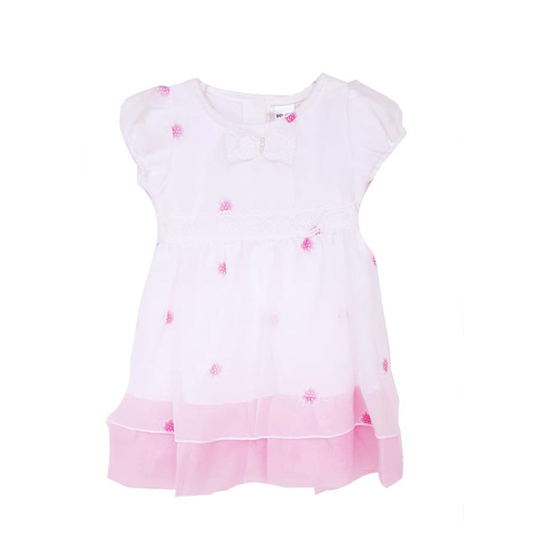 Chloe Babyshop Dress Ribbon Flower F850 Dress Anak