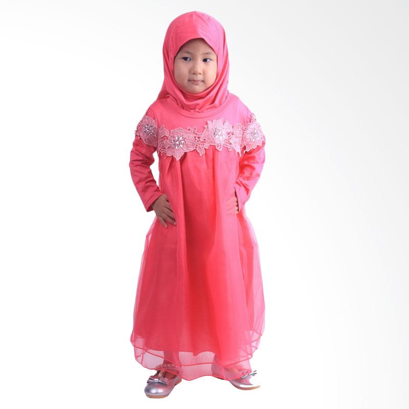 Jual Chloe Babyshop F565 Renda Gamis Anak  Pink Online