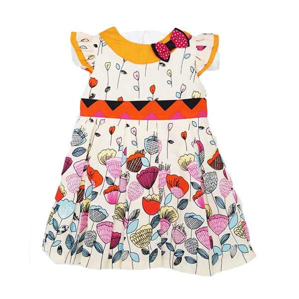 Chloe Babyshop F851 Flower Tulip Dress - Putih