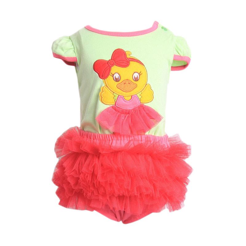 Chloe Babyshop F903 Duck Tutu Setelan Pakaian Anak - Green