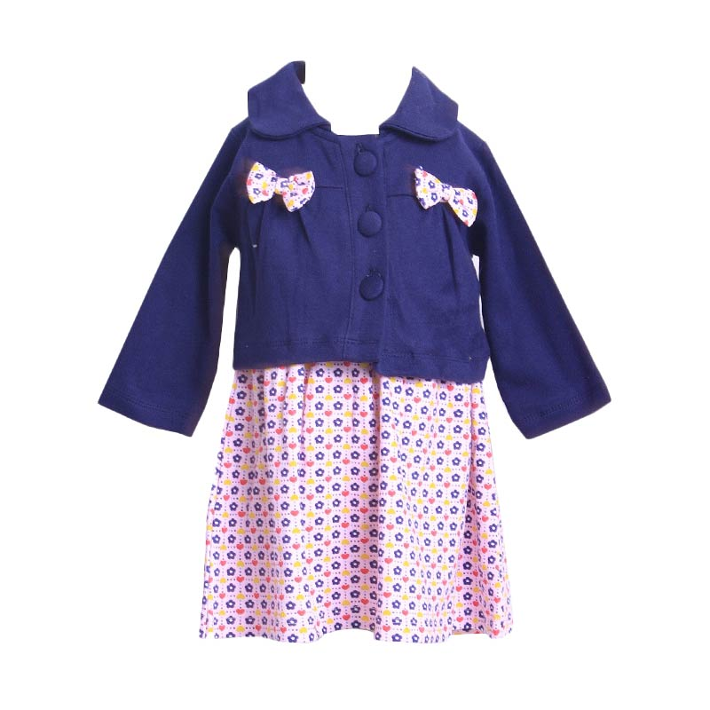 Chloe Babyshop F910 Dress Cardigan Ribbon - Navy