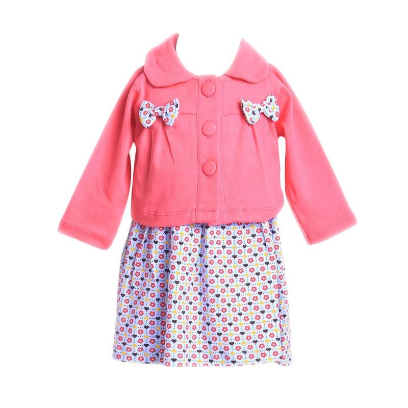 Chloe Babyshop F910 Dress Cardigan Ribbon - Pink