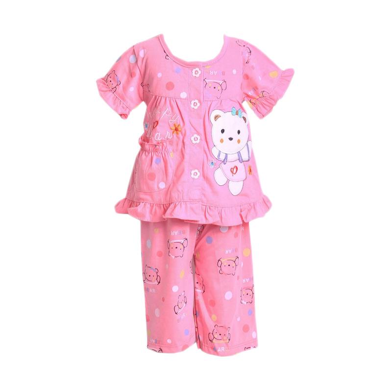 Chloe Babyshop F928 Bear Ribbon Piyama - Pink