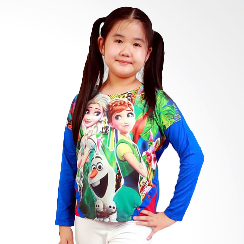 Chloe Babyshop Frozen B F534 Atasan Anak Perempuan - Blue